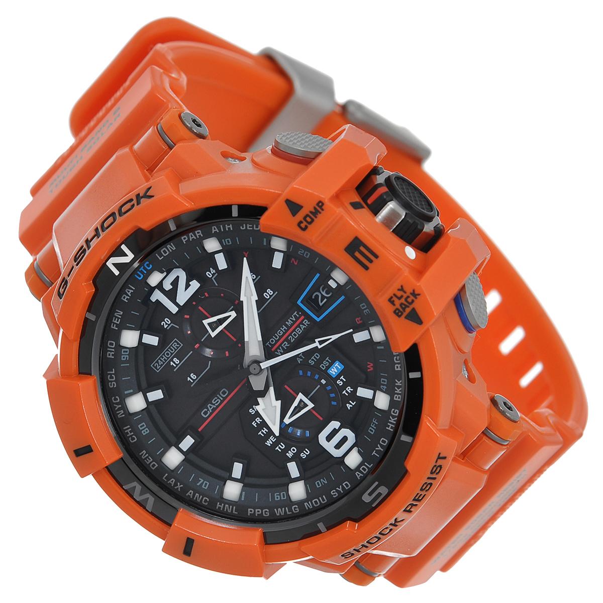 "Часы мужские наручные Casio ""G-Shock"", цвет: оранжевый. GW-A1100R-4A ( GW-A1100R-4A )"