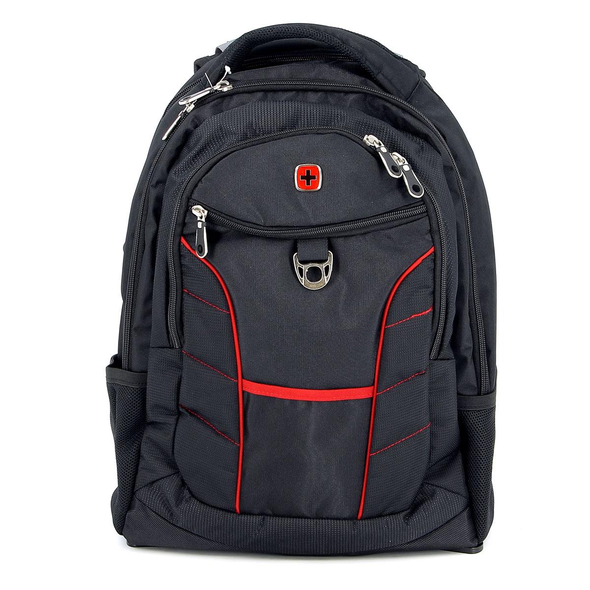 Рюкзак Wenger Rad, цвет: черный, красный, 35 см х 20 см х 47 см, 33 л1178215Рюкзак Wenger Rad – это самодостаточный, многофункциональный и надежный спутник своего владельца, как и знаменитый швейцарский нож! Благодаря многофункциональности рюкзака Wenger, вы можете легко организовать свои вещи, отправив ключи, мобильный телефон и еще тысячу мелочей в специальный карман-органайзер, положив ноутбук в надежный мягкий карман под спинкой. После этого останется еще много места для других необходимых вещей. Рюкзаки и сумки Wenger – это прежде всего современные материалы и фурнитура от надежных поставщиков и швейцарский контроль качества, благодаря которому репутация компании была и остается столь высокой. Продуманная конструкция и современные технологии проявляются главным образом в потрясающей надежности рюкзаков и сумок Wenger. А ведь надежность – самое важное качество и в амуниции, и в людях. Особенности рюкзака: Большой объем для хранения: основное отделение предоставляет достаточный объем для папок, электронных игр и других аксессуаров. ...