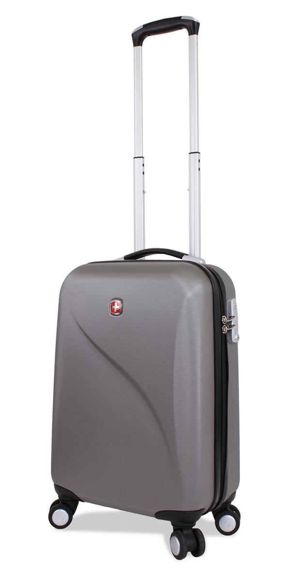 Чемодан SwissGear Evo Lite, цвет: серый, 34 см х 19 см х 48 см, 31 л7201404154SwissGear Evo Lite отличает эргономичность, высокое качество и удобство в использовании. Современный и в то же время строгий дизайн идеально подойдет для деловых командировок и туристических поездок. Изготовленный из прочного поликарбоната корпус надежно сбережет Ваши вещи от повреждений. Легкая управляемость багажом обеспечивается системой 8 колес, способных вращаться на 360 градусов. Особенности чемодана: Высокая мобильность и легкость в управлении обеспечивается 8 колесами, вращающимися на 360 градусов. Алюминиевая телескопическая ручка с фиксатором гарантирует исключительное удобство в управлении чемоданом. Цифровой замок с трехзначным кодом TSA надежно обеспечивает безопасность багажа. Мягкие прочные эргономичные ручки с резиновым покрытием Soft-Touch для переноски обладают повышенной прочностью,обеспечивает комфорт,функциональность и долговечность. Модель оснащена регулируемыми ремнями для фиксации багажа. Чемодан имеет 2 отделения с...
