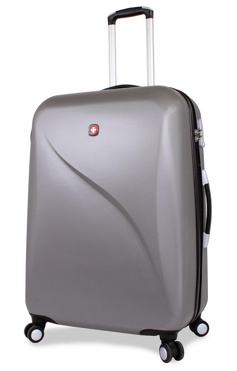 Чемодан SwissGear Evo Lite, цвет: серый, 48 см x 28 см x 69 см, 92 л7201404177SwissGear Evo Lite отличает эргономичность, высокое качество и удобство в использовании. Современный и в то же время строгий дизайн идеально подойдет для деловых командировок и туристических поездок. Изготовленный из прочного поликарбоната корпус надежно сбережет ваши вещи от повреждений. Легкая управляемость багажом обеспечивается системой 8 колес, способных вращаться на 360°. Особенности чемодана: Высокая мобильность и легкость в управлении обеспечивается 8 колесами, вращающимися на 360°. Алюминиевая телескопическая ручка с фиксатором гарантирует исключительное удобство в управлении чемоданом. Цифровой замок с трехзначным кодом TSA надежно обеспечивает безопасность багажа. Мягкие прочные эргономичные ручки с резиновым покрытием Soft-Touch для переноски обладают повышенной прочностью, обеспечивает комфорт, функциональность и долговечность. Модель оснащена регулируемыми ремнями для фиксации багажа. Чемодан имеет 2 отделения с...