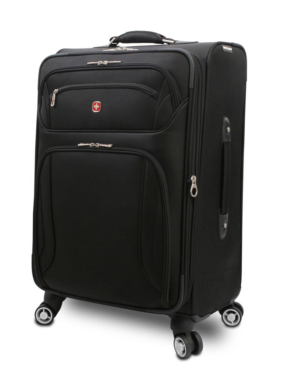 Чемодан Wenger Zurich II, цвет: черный, 43 см х 24 см х 61 см, 63 л7895202167Чемодан Wenger Zurich II отличает эргономичность, высокое качество и стильный дизайн. Прочный и удобный в использовании, чемодан прекрасно подойдет для деловых и туристических поездок. В производстве чемодана использован высококачественный износоустойчивый полиэстер толщиной 400 x 350 денье. Модель оснащена прочной фурнитурой, произведенной из оцинкованного металла. Легкая управляемость чемоданом обеспечивается системой 8 колес, способных вращаться на 360 градусов. Особенности: Высокая мобильность и легкость в управлении обеспечивается 8 колесами, вращающимися на 360 градусов. Алюминиевая телескопическая ручка с фиксатором гарантирует исключительное удобство в управлении чемоданом. Сетчатый карман на молнии для мелких предметов. Регулируемые ремни для фиксации багажа Съемный несессер Встроенный отсек для именной карточки. Увеличение вместимости : чемодан может быть дополнительно расширен на 5 см. По всем вопросам гарантийного и...