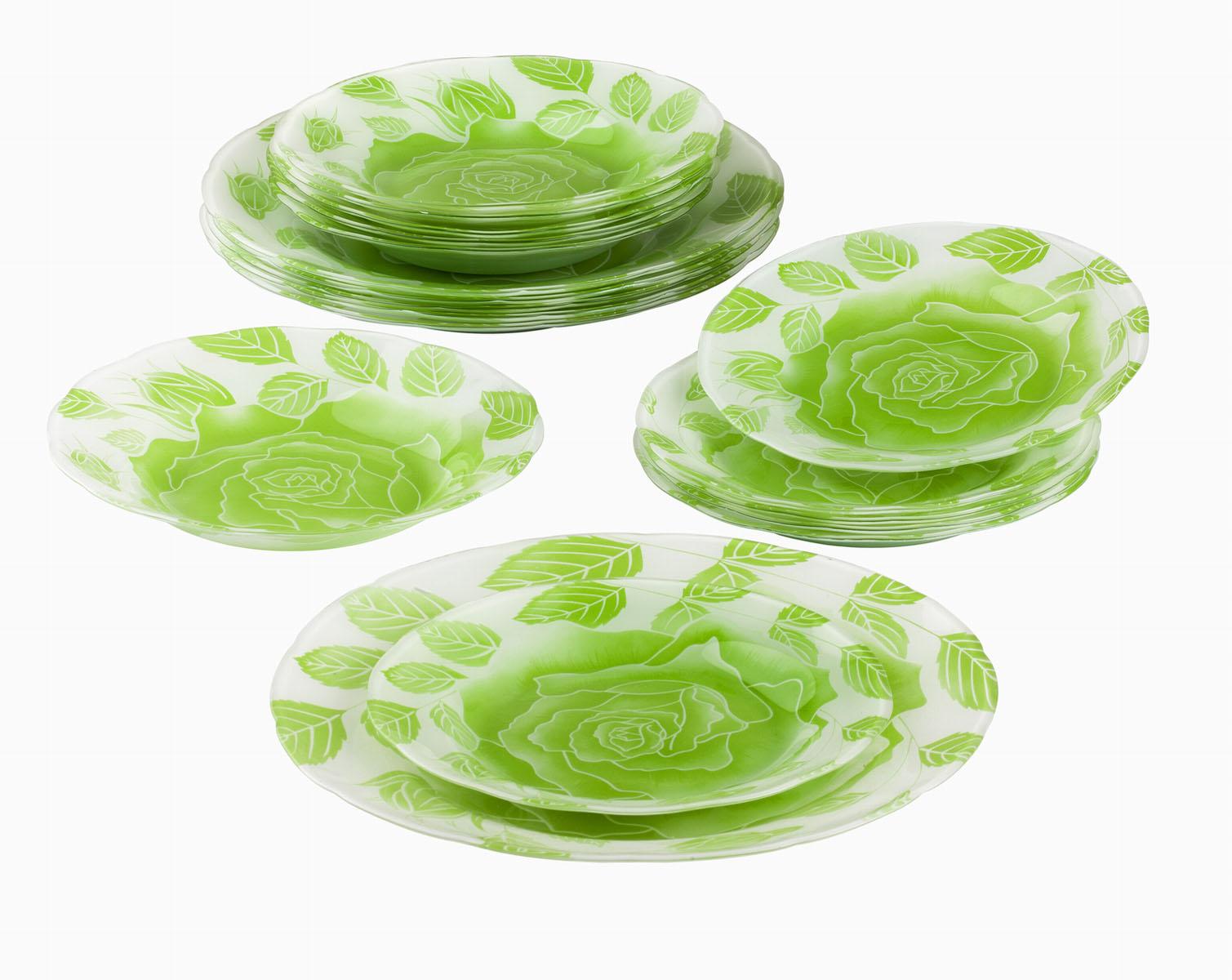 Сервиз обеденный Bekker Koch, 18 предметов. BK-9905BK-9905Обеденный сервиз Bekker Koch, изготовленный из высококачественного стекла, состоит из 6 суповых тарелок, 6 обеденных тарелок и 6 десертных тарелок. Изделия декорированы ярким изображением цветов и листьев. Такой сервиз придется по вкусу любителям классики, и тем, кто предпочитает утонченность и изысканность. Набор эффектно украсит стол к обеду, а также прекрасно подойдет для торжественных случаев. Не рекомендуется мыть в посудомоечной машине.