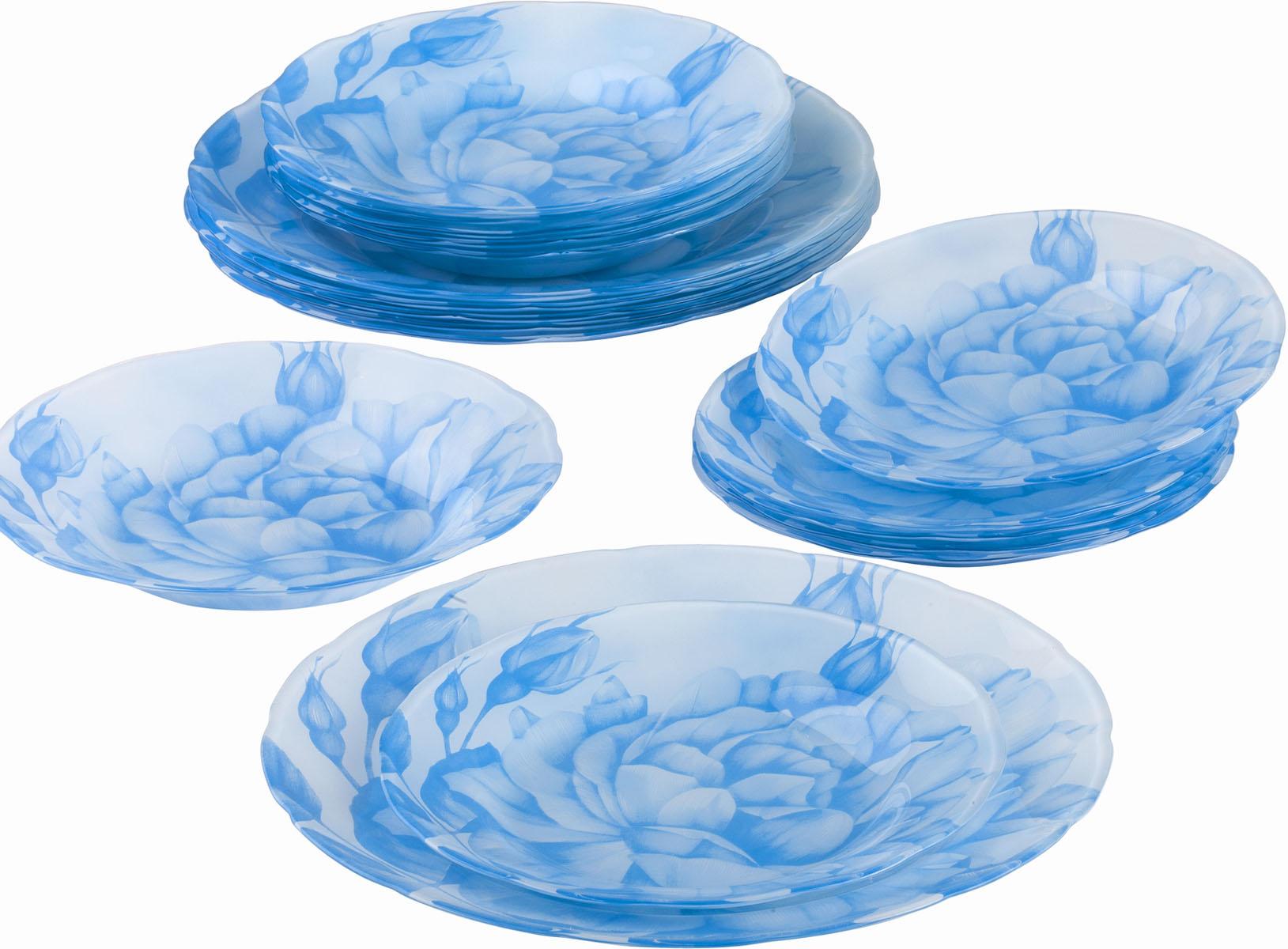 Сервиз обеденный Bekker Koch, 18 предметов. BK-9906BK-9906Обеденный сервиз Bekker Koch, изготовленный из высококачественного стекла, состоит из 6 суповых тарелок, 6 обеденных тарелок и 6 десертных тарелок. Изделия декорированы ярким изображением цветов. Такой сервиз придется по вкусу любителям классики, и тем, кто предпочитает утонченность и изысканность. Набор эффектно украсит стол к обеду, а также прекрасно подойдет для торжественных случаев. Не рекомендуется мыть в посудомоечной машине.