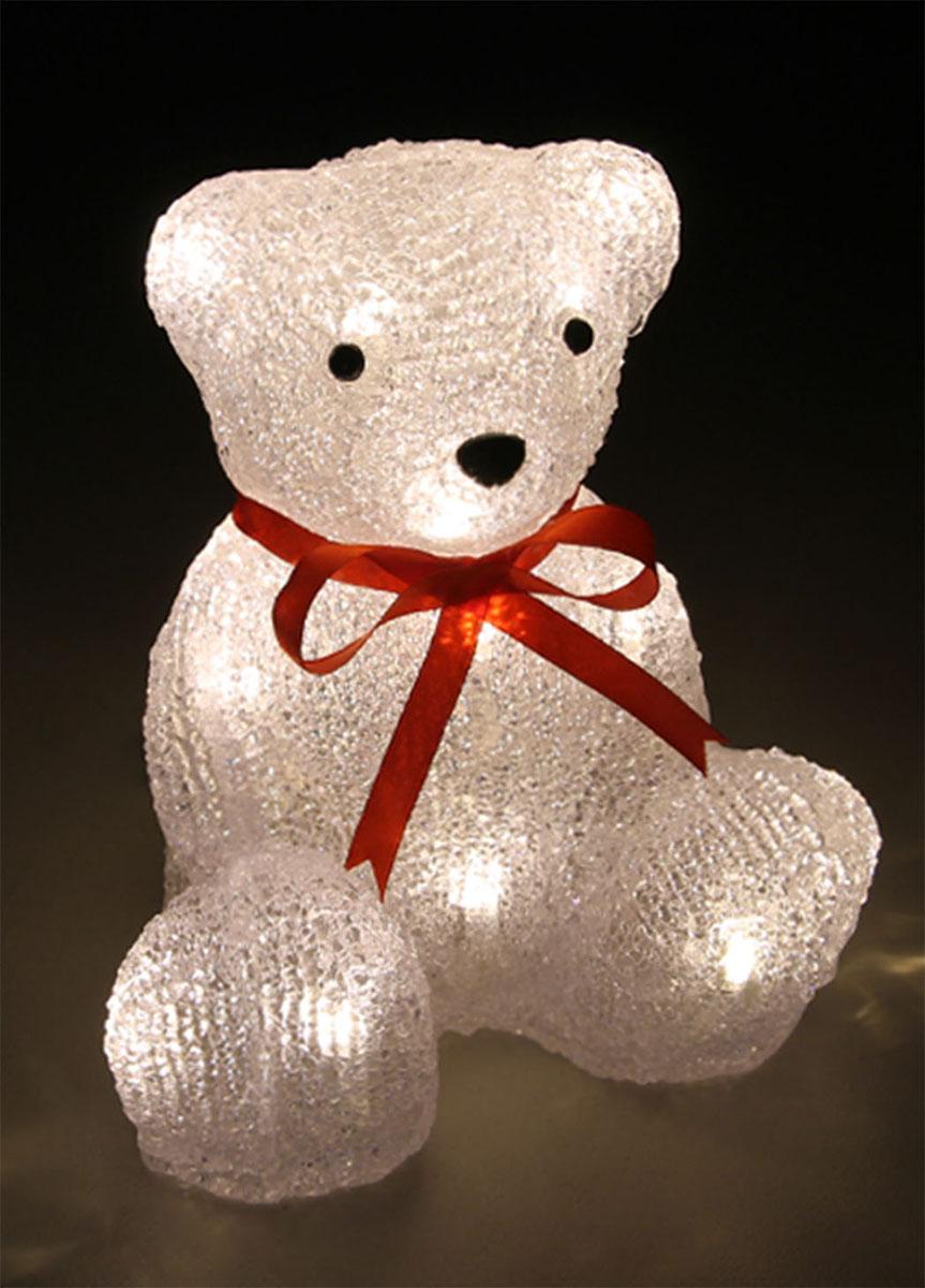 Новогодняя декоративная фигурка Kosmos Медведь, с подсветкой, высота 19 смKOCNL-EL123