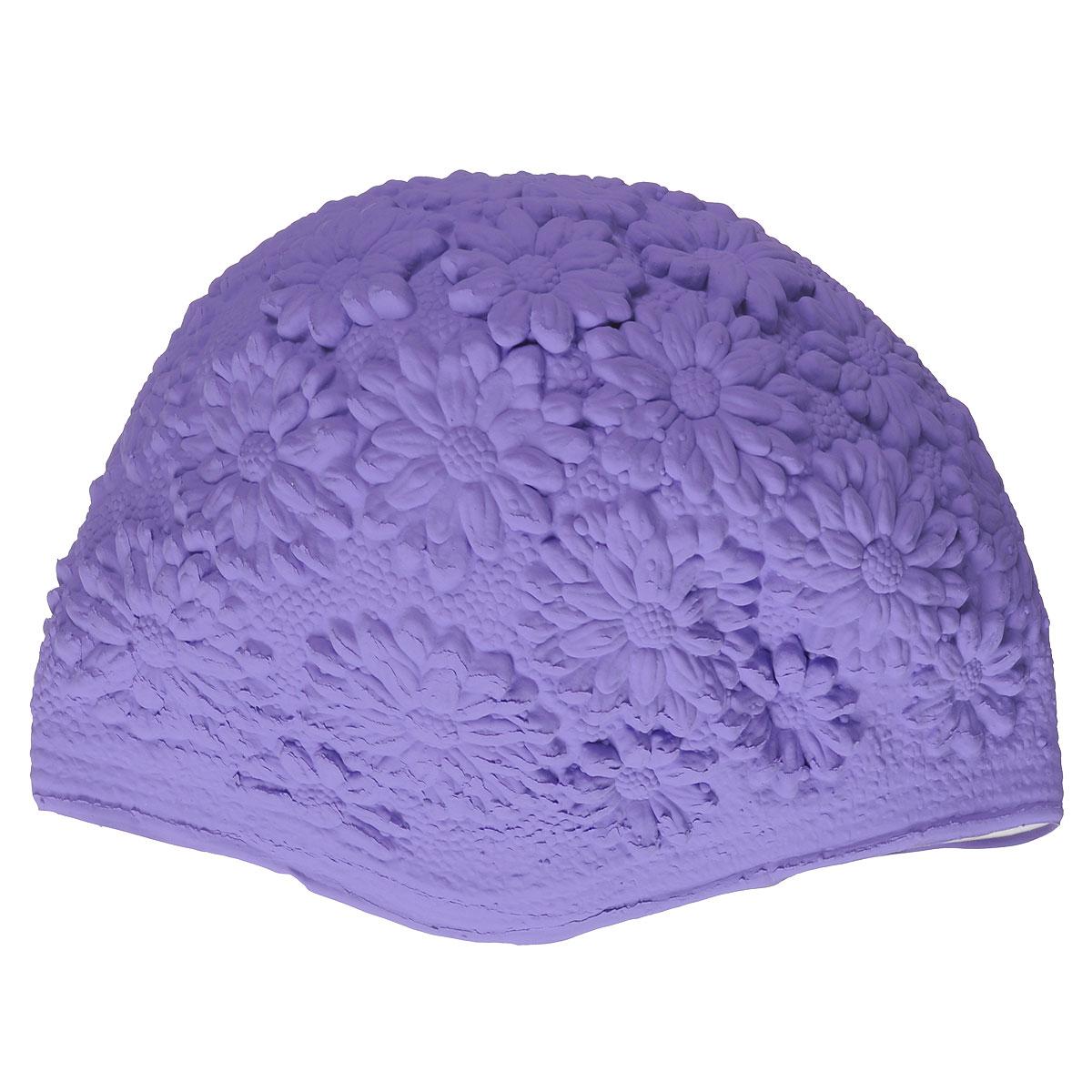 Шапочка для плавания MadWave Hawaii Chrysanthemum, женская, цвет: пурпурныйM0517 02 0 21WЛатексная шапочка для плавания MadWave Hawaii Chrysanthemum декорирована цветочным рельефом. Имеет превосходную эластичность и высокий уровень комфорта. Высококачественный материал обеспечивает долгий срок службы. Пузырьковая поверхность уменьшает площадь соприкосновения с волосами. Обхват головы: 53 см.