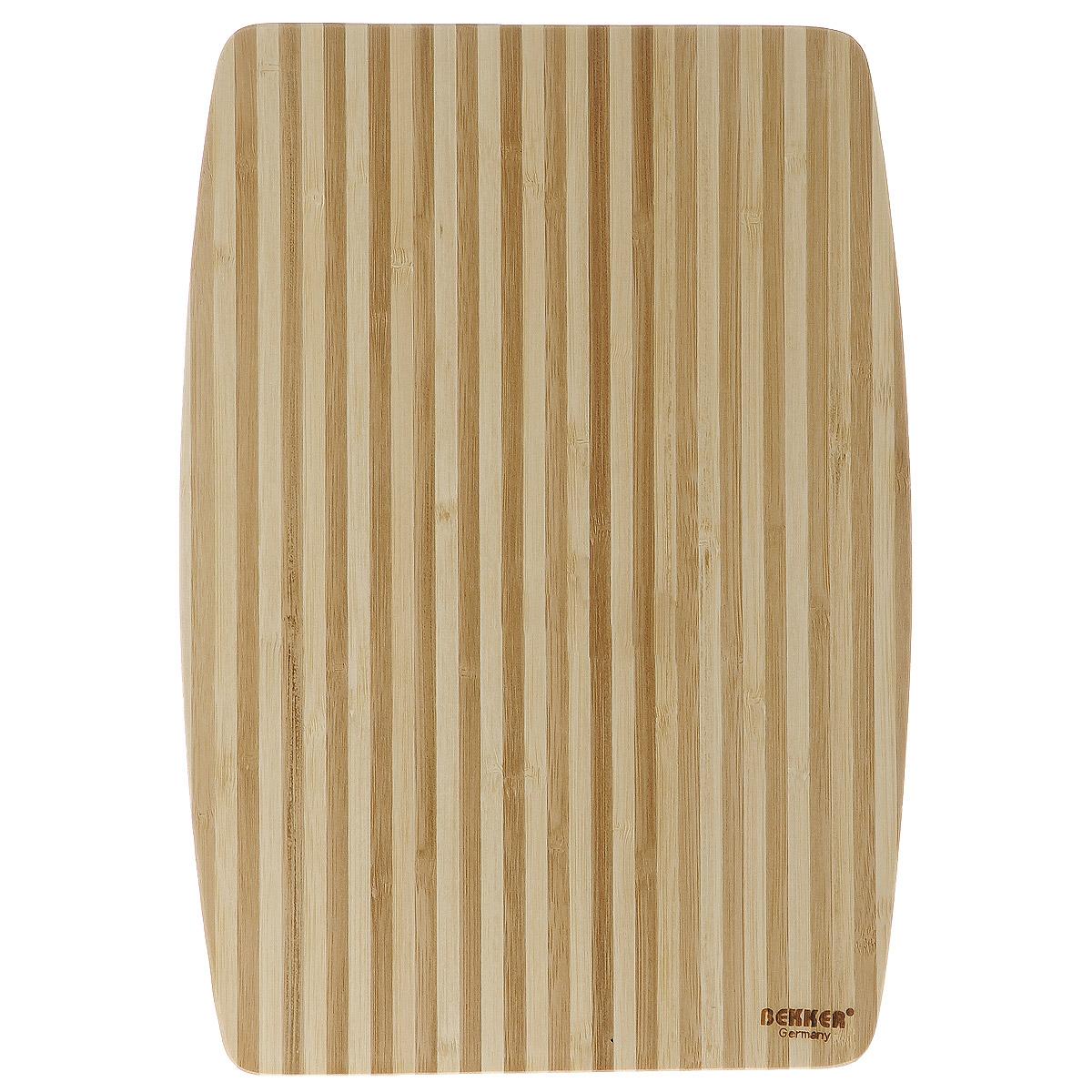 Доска разделочная Bekker, бамбуковая, 34 см х 24 см