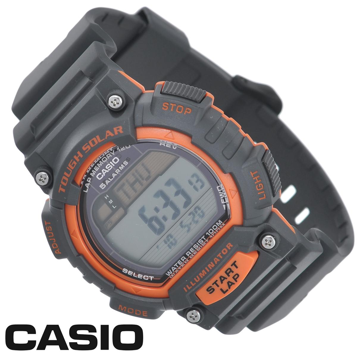 Часы мужские наручные Casio, цвет: черный, оранжевый. STL-S100H-4ASTL-S100H-4AСтильные электронно-механические часы от японского брэнда Casio - это яркий функциональный аксессуар для современных людей, которые стремятся выделиться из толпы и подчеркнуть свою индивидуальность. Часы выполнены в спортивном стиле. Часы оснащены японским кварцевым механизмом. Корпус и ремешок часов изготовлены из пластика. ЖК-дисплей с LED-подсветкой защищен пластиковым стеклом. Ремешок имеет классическую застежку. Основные функции: - индикатор заряда батареи; - функция автоматического сохранения энергии; - секундомер с точностью показаний 1/100с и временем измерения 1ч; - память на 120 этапов; - номер и лучшее время этапа; - два таймера обратного отсчета времени от 5 с до 100 мин с устанавливаемым количеством повторов от 1 до 10; - мировое время; - 12-ти и 24-х часовой формат времени; - функция отключения/включения звука. Питание часов...