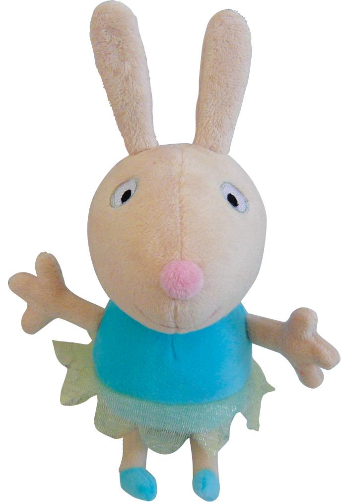 Мягкая игрушка Peppa Кролик Ребекка Балерина, 24 см25082Очаровательная мягкая игрушка Кролик Ребекка Балерина, выполненная в виде героя мультфильма Свинка Пеппа - забавного желтого кролика в тканевой юбочке, вызовет умиление и улыбку у каждого, кто ее увидит. Игрушка выполнена из высококачественного и приятного на ощупь материала. Великолепное качество исполнения делают эту игрушку чудесным подарком к любому празднику, а оригинальный жизнерадостный образ представит такой подарок в самом лучшем свете.