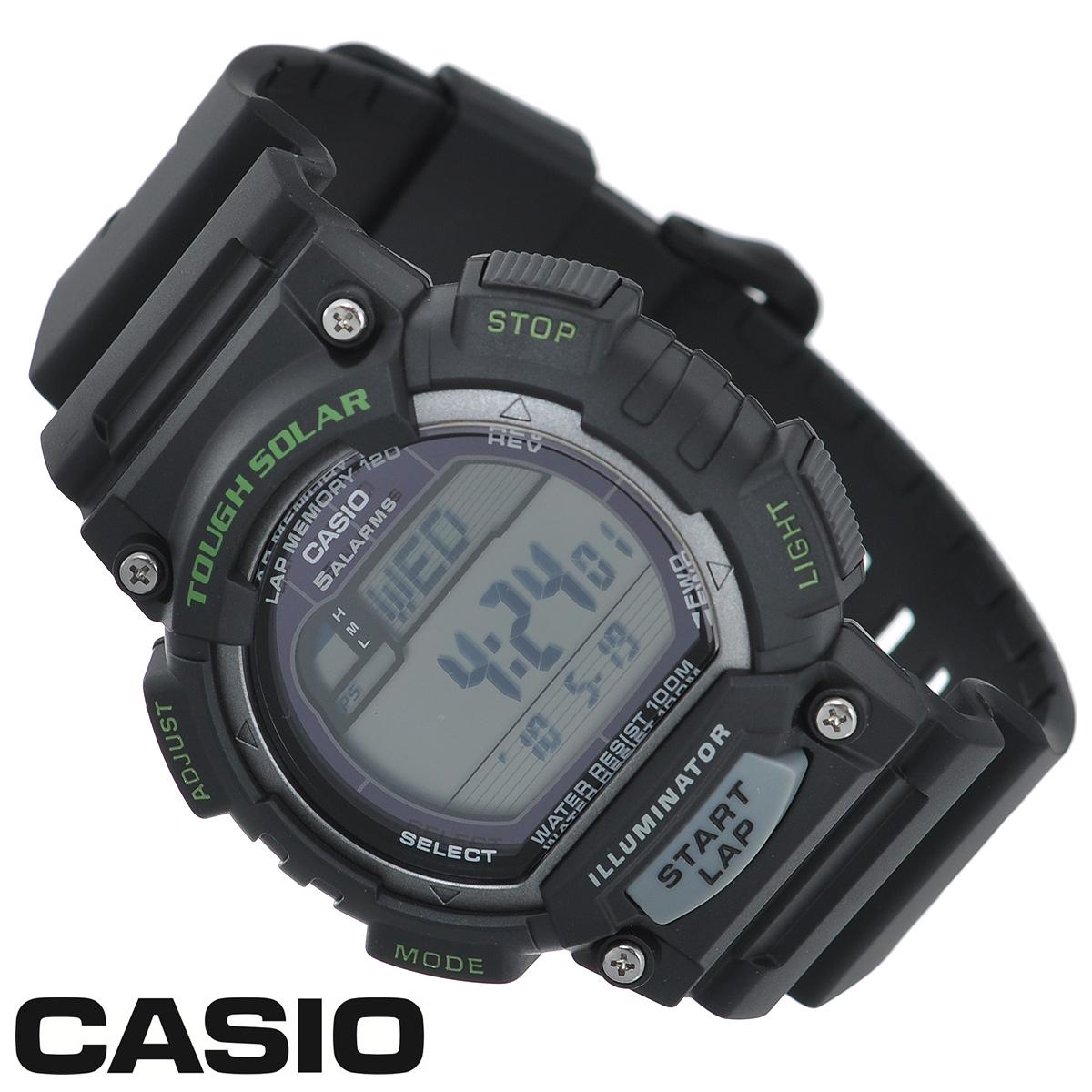 Часы мужские наручные Casio, цвет: черный, серый. STL-S100H-1ASTL-S100H-1AСтильные электронно-механические часы от японского брэнда Casio - это яркий функциональный аксессуар для современных людей, которые стремятся выделиться из толпы и подчеркнуть свою индивидуальность. Часы выполнены в спортивном стиле. Часы оснащены японским кварцевым механизмом. Корпус и ремешок часов изготовлены из пластика. ЖК-дисплей с LED-подсветкой защищен пластиковым стеклом. Ремешок имеет классическую застежку. Основные функции: - индикатор заряда батареи; - функция автоматического сохранения энергии; - секундомер с точностью показаний 1/100с и временем измерения 1ч; - память на 120 этапов; - номер и лучшее время этапа; - два таймера обратного отсчета времени от 5 с до 100 мин с устанавливаемым количеством повторов от 1 до 10; - мировое время; - 12-ти и 24-х часовой формат времени; - функция отключения/включения звука. Питание часов...