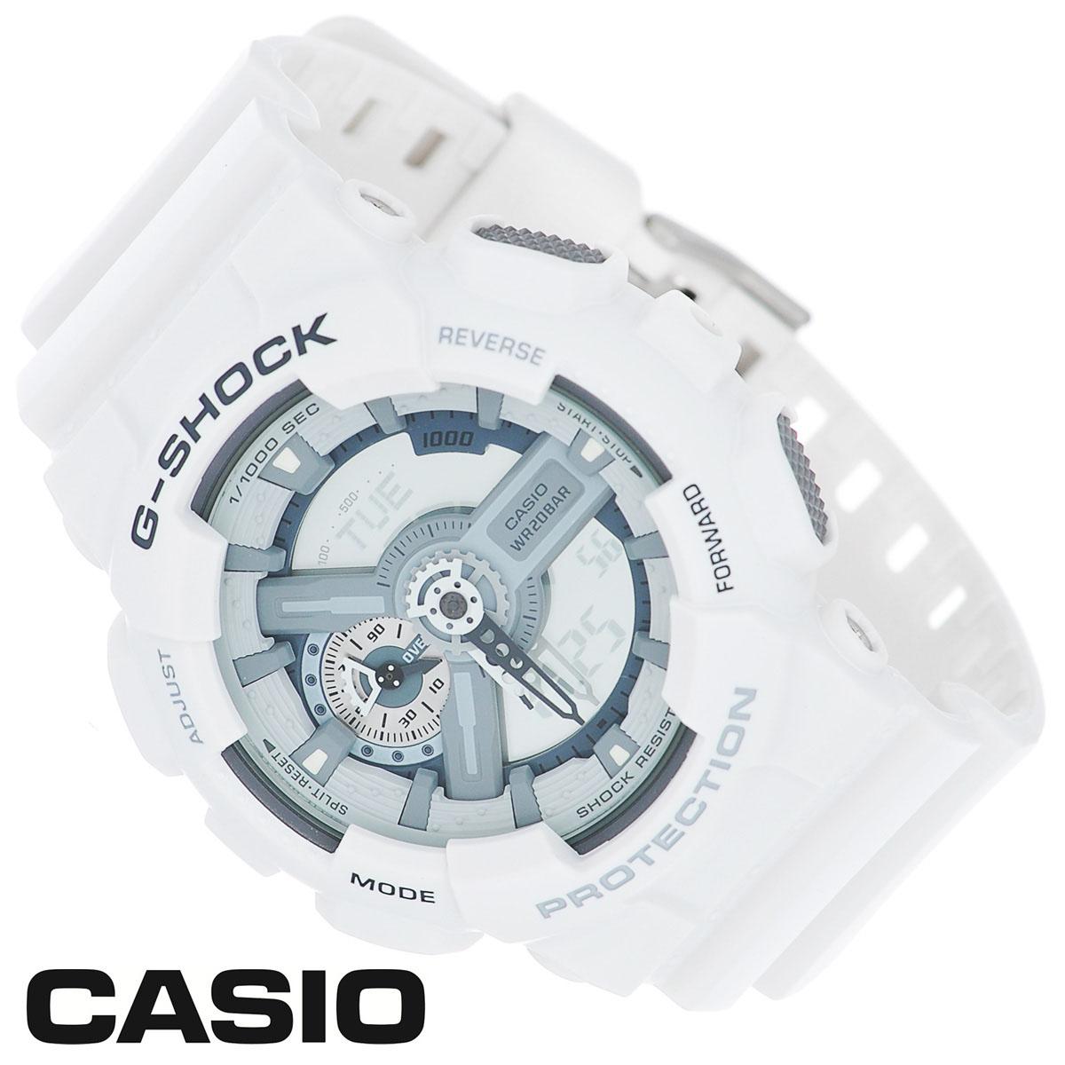 Часы мужские наручные Casio G-Shock, цвет: белый. GA-110C-7AGA-110C-7AСтильные часы G-Shock от японского брэнда Casio - это яркий функциональный аксессуар для современных людей, которые стремятся выделиться из толпы и подчеркнуть свою индивидуальность. Часы выполнены в спортивном стиле. Корпус имеет ударопрочную конструкцию, защищающую механизм от ударов и вибрации. Циферблат подсвечивается светодиодной автоматической подсветкой. Функция автоподсветки освещает циферблат при повороте часов к лицу. Ремешок из мягкого пластика имеет классическую застежку. Основные функции: - 5 будильников, один с функцией Snooze, ежечасный сигнал; - автоматический календарь (число, месяц, день недели, год); - сплит-хронограф; - защита от магнитных полей; - секундомер с точностью показаний 1/1000 с, время измерения 100 часов; - 12-ти и 24-х часовой формат времени; - таймер обратного отсчета от 1 мин до 24 ч с автоповтором; - мировое время. Часы...