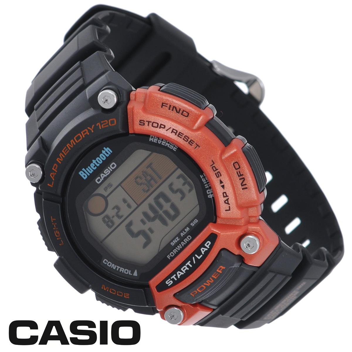 Часы мужские наручные Casio, цвет: черный, оранжевый. STB-1000-4ESTB-1000-4EСтильные часы от японского брэнда Casio - это яркий функциональный аксессуар для современных людей, которые стремятся выделиться из толпы и подчеркнуть свою индивидуальность. Часы выполнены в спортивном стиле. Часы оснащены японским кварцевым механизмом. Корпус часов изготовлен из пластика. ЖК-дисплей со светодиодной подсветкой защищен минеральным стеклом. Ремешок из пластика имеет классическую застежку. Основные функции: - будильник; - автоматический календарь (число, месяц, день недели, год); - индикатор заряда батареи; - секундомер с точностью показаний 1/100 с, время измерения 100 часов; - память на 120 кругов; - номер и лучшее время этапа; - 12-ти и 24-х часовой формат времени; - таймер обратного отсчета от 1 с до 100 ч; - функция включения/отключения звука; - мировое время; - функция автоподсветки циферблата при повороте...