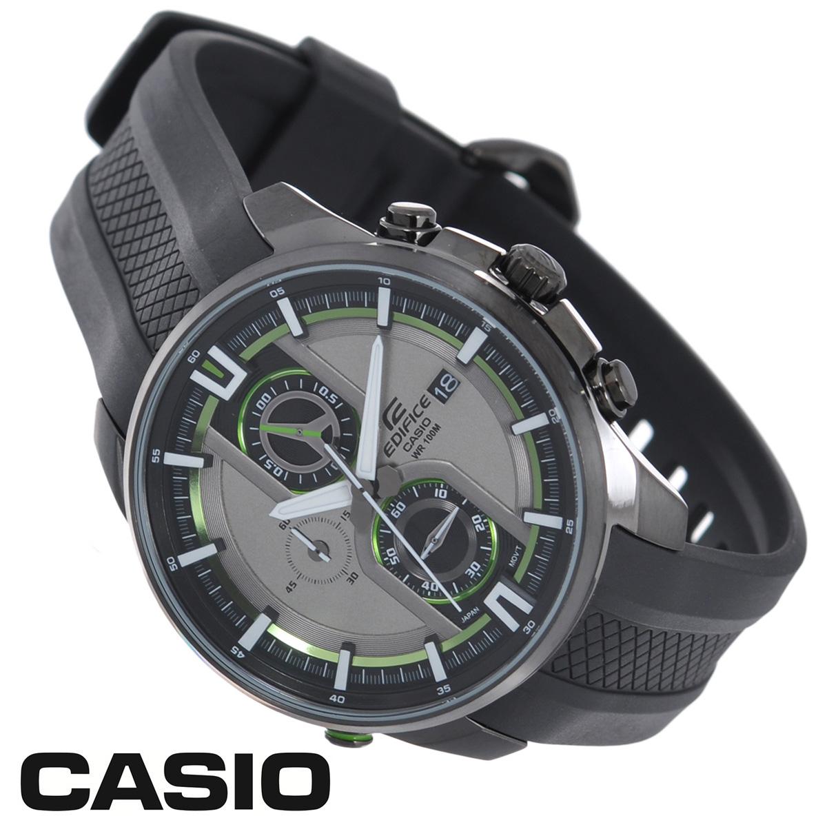 Часы мужские наручные Casio Edifice, цвет: темно-серый. EFR-533PB-8AEFR-533PB-8AСтильные кварцевые часы Edifice от японского брэнда Casio - это яркий функциональный аксессуар для современных людей, которые стремятся выделиться из толпы и подчеркнуть свою индивидуальность. Корпус часов выполнен из стали с IP-покрытием. Циферблат с отметками и тремя стрелками подсвечивается светодиодом разных цветов, защищен минеральным стеклом. Ремешок из пластика имеет классическую застежку. Основные функции: - секундомер с точностью показаний 1/10 с и временем измерения 1 ч; - индикатор даты; - водозащита 100 м. Питание от сменной батарейки. Часы упакованы в фирменную коробку с логотипом Casio. Такой аксессуар добавит вашему образу стиля и подчеркнет безупречный вкус своего владельца. Характеристики: Диаметр циферблата: 4 см. Размер корпуса: 4,9 см х 4,5 см х 1,4 см. Длина ремешка (с корпусом): 25,5 см. Ширина ремешка: 2,1 см. DY STAINLESS STELL.