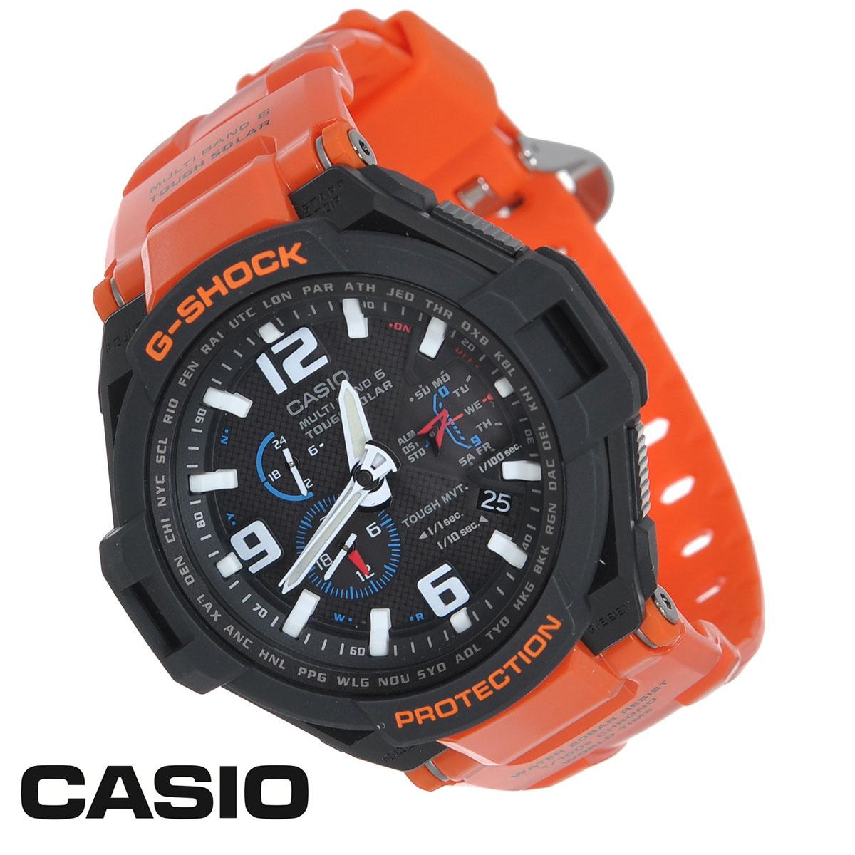 Часы мужские наручные Casio G-Shock, цвет: оранжевый, черный. GW-4000R-4AGW-4000R-4AСтильные кварцевые часы G-Shock от японского брэнда Casio - это яркий функциональный аксессуар для современных людей, которые стремятся выделиться из толпы и подчеркнуть свою индивидуальность. Часы выполнены в спортивном стиле. Корпус имеет ударопрочную конструкцию, защищающую механизм от ударов и вибрации. Светонакопительное покрытие Neobrite продолжает светиться в темноте даже после непродолжительного пребывания на свету. Ремешок из пластика имеет классическую застежку. Основные функции: - будильник; - автоматический календарь (число, месяц, день недели, год); - секундомер с точностью показаний 1/100 с и временем измерения 24 ч; - мировое время; - защита от воздействия гравитационной, центробежной и вибрационной сил; - функция автоматического сохранения энергии; - коррекция текущего времени радиосигналом на территории почти всей Европы, США, Японии и Китая; - звуковой...