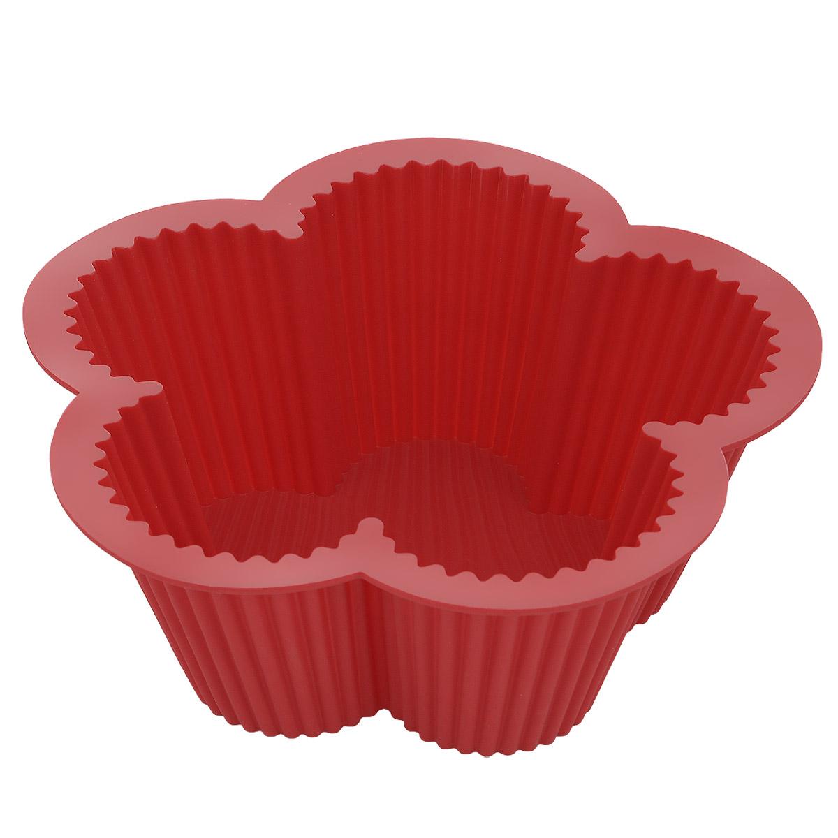 Форма для выпечки Bekker Цветок, силиконовая, цвет: красныйBK-9451Форма для выпечки Bekker Цветок изготовлена из силикона и имеет волнистые края. Силиконовые формы для выпечки имеют много преимуществ по сравнению с традиционными металлическими формами и противнями. Они идеально подходят для использования в микроволновых, газовых и электрических печах при температурах до +250°С. В случае заморозки до -50°С. Можно мыть в посудомоечной машине. За счет высокой теплопроводности силикона изделия выпекаются заметно быстрее. Благодаря гибкости и антиприлипающим свойствам силикона, готовое изделие легко извлекается из формы. Для этого достаточно отогнуть края и вывернуть форму (выпечке дайте немного остыть, а замороженный продукт лучше вынимать сразу). Силикон абсолютно безвреден для здоровья, не впитывает запахи, не оставляет пятен, легко моется. Форма для выпечки Bekker Цветок - практичный и необходимый подарок любой хозяйке!