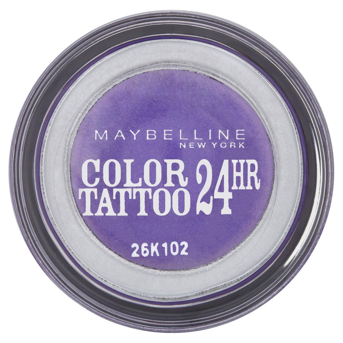 Maybelline New York Тени для век Color Tattoo 24 часа, оттенок 15, Бесконечно фиолетовый, 3,5 млB1949200Технология тату-пигментов создает яркий, супернасыщенный цвет. Крем-гелевая текстура обеспечивает ультралегкое нанесение и стойкость на 24 часа. 12 оттенков