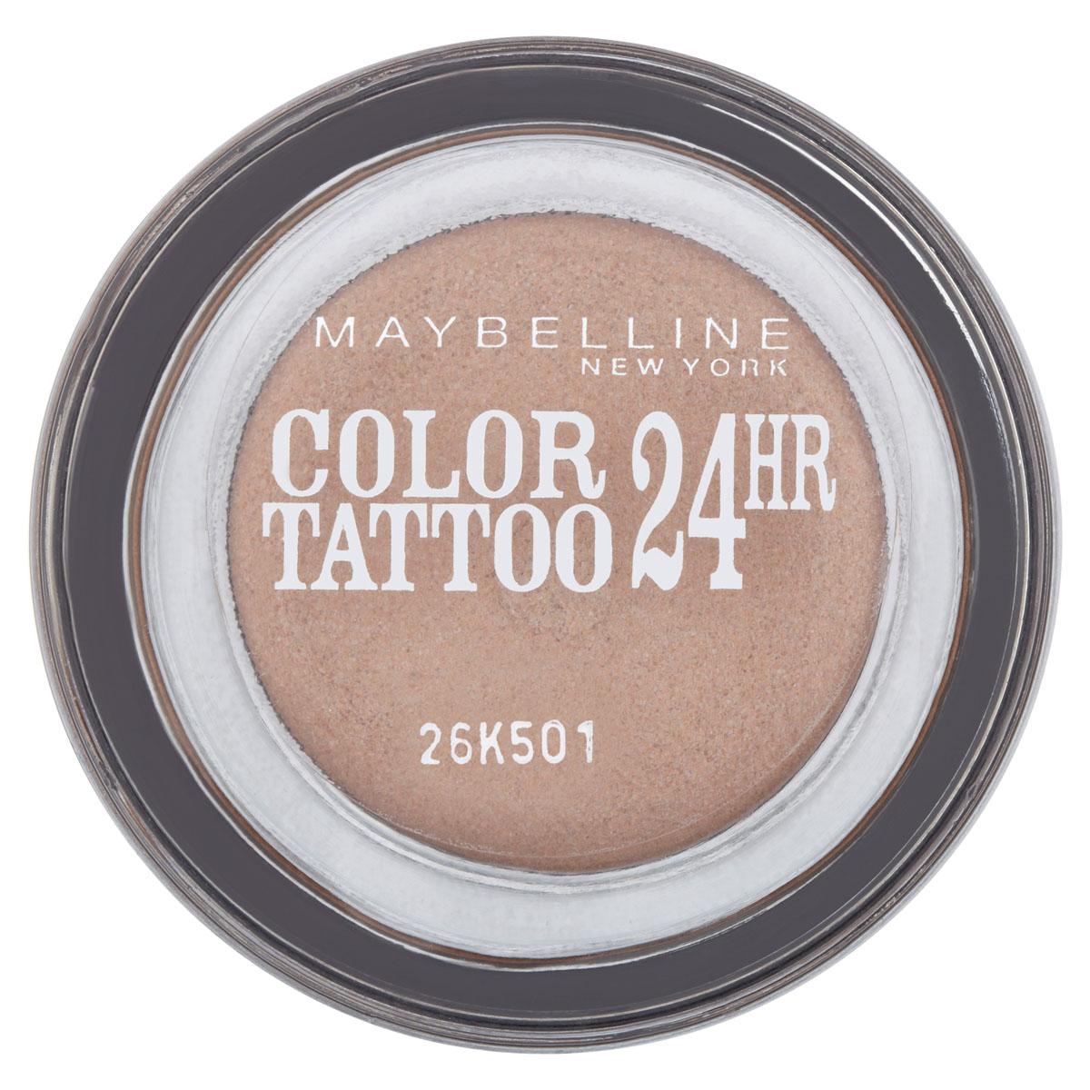 Maybelline New York Тени для век Color Tattoo 24 часа, оттенок 35, Бронзовый рай, 4 млB1949600Технология тату-пигментов создает яркий, супернасыщенный цвет. Крем-гелевая текстура обеспечивает ультралегкое нанесение и стойкость на 24 часа. 12 оттенков