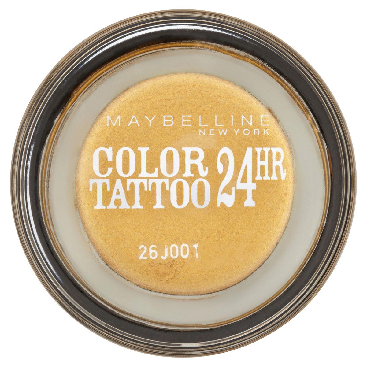 Maybelline New York Тени для век Color Tattoo 24 часа, оттенок 75, Золото 24 карата, 3,5 млB2167600Технология тату-пигментов создает яркий, супернасыщенный цвет. Крем-гелевая текстура обеспечивает ультралегкое нанесение и стойкость на 24 часа. 12 оттенков