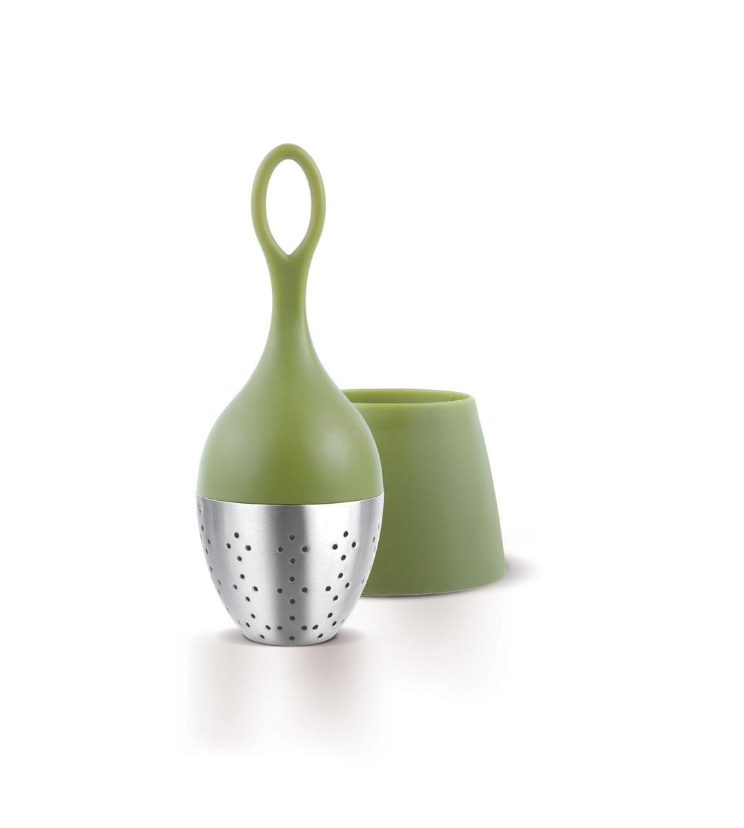 Ситечко для заваривания чая AdHoc, серия FLOATEA, зеленый, O 4 см010.050400.003Ситечко для заваривания чая. Благодаря отлично сбалансированной форме и весу плавает на поверхности и может быть легко удалено из чашки. После заваривания устанавливается в подставку, где собираются последние капли. Диаметр 4 см.