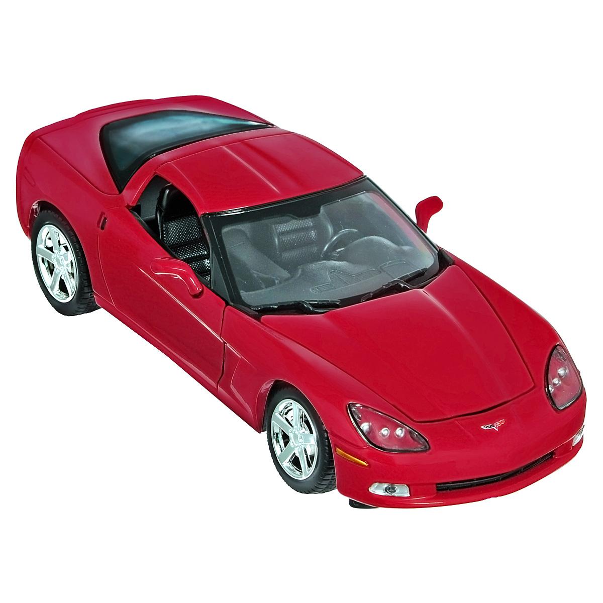 Коллекционная модель MotorMax 2005 Corvette C6, цвет: красный. Масштаб 1/24red/ast73270Коллекционная модель MotorMax 2005 Corvette C6 станет хорошим подарком для любого ценителя автомобилей. Она имеет отличную детализацию и является уменьшенной копией настоящей машины. Этот двухместный спорткар действительно известен во всем мире. Chevrolet Corvette даже имеет свой собственный музей в американском городке Боулинг Грин. Несомненное достоинство модели - открывающиеся двери и капот и подробная отделка даже внутренних частей авто, включая мотор. Кроме того, корпус, отлитый из металла по технологии Die Cast, обеспечивает долгий срок службы модели, а пластиковые элементы позволяют добиться высокоточного соответствия настоящему авто. Приятный бонус - резиновые шины на колесах, которые вращаются.
