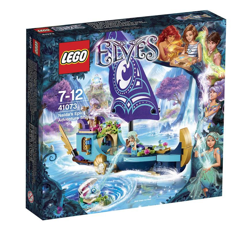LEGO Elves Конструктор Корабль Наиды 4107341073Пуститесь в плавание с Наидой и Эйрой на легендарном корабле Наиды! Помогите им найти волшебный ключ воды, чтобы отправить Эмили Джонс домой, в мир людей. Пользуйтесь телескопом, чтобы заглянуть в глубину хрустальных вод в поисках гигантской устричной раковины, в которой находится спрятанный ключ. Потом помогите эльфам соединить их волшебную силу воды и ветра, чтобы достичь дна океана и открыть створки моллюска. Прекрасная работа! Теперь можно передохнуть. Вместе с Наидой и Эйрой расслабьтесь на удивительных сидениях в форме ракушек и окуните ноги в воду. Приготовьте вкусную еду на камбузе и насладитесь ею, сидя на подушках. Затем встаньте за штурвал и направляйтесь домой. В набор входят 2 мини-фигурки: Наида и Эйра. Конструктор - это один из самых увлекательнейших и веселых способов времяпрепровождения. Ребенок сможет часами играть с конструктором, придумывая различные ситуации и истории. В процессе игры с конструкторами Lego дети приобретают и постигают такие...