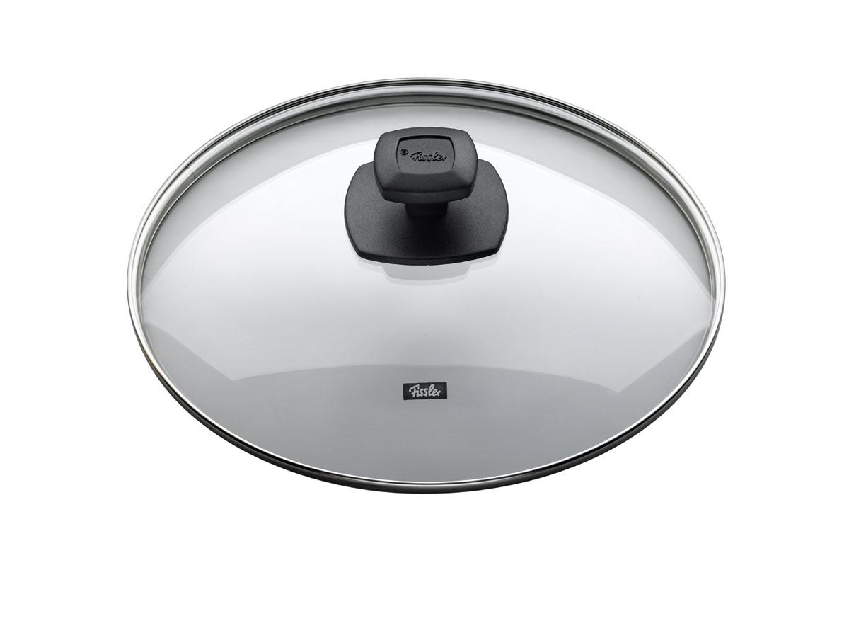 Крышка стеклянная Fissler, 28см175000282Прозрачная крышка позволяет наблюдать за процессом приготовления. Очень практично и удобно! Крышка изготовлена из жаропрочного стекла и выдерживает температуру до 220С. Обод крышки изготовлен из высококачественной стали 18/10. Подходит для всех сковород Fissler соответствующего диаметра. Цвет: черный