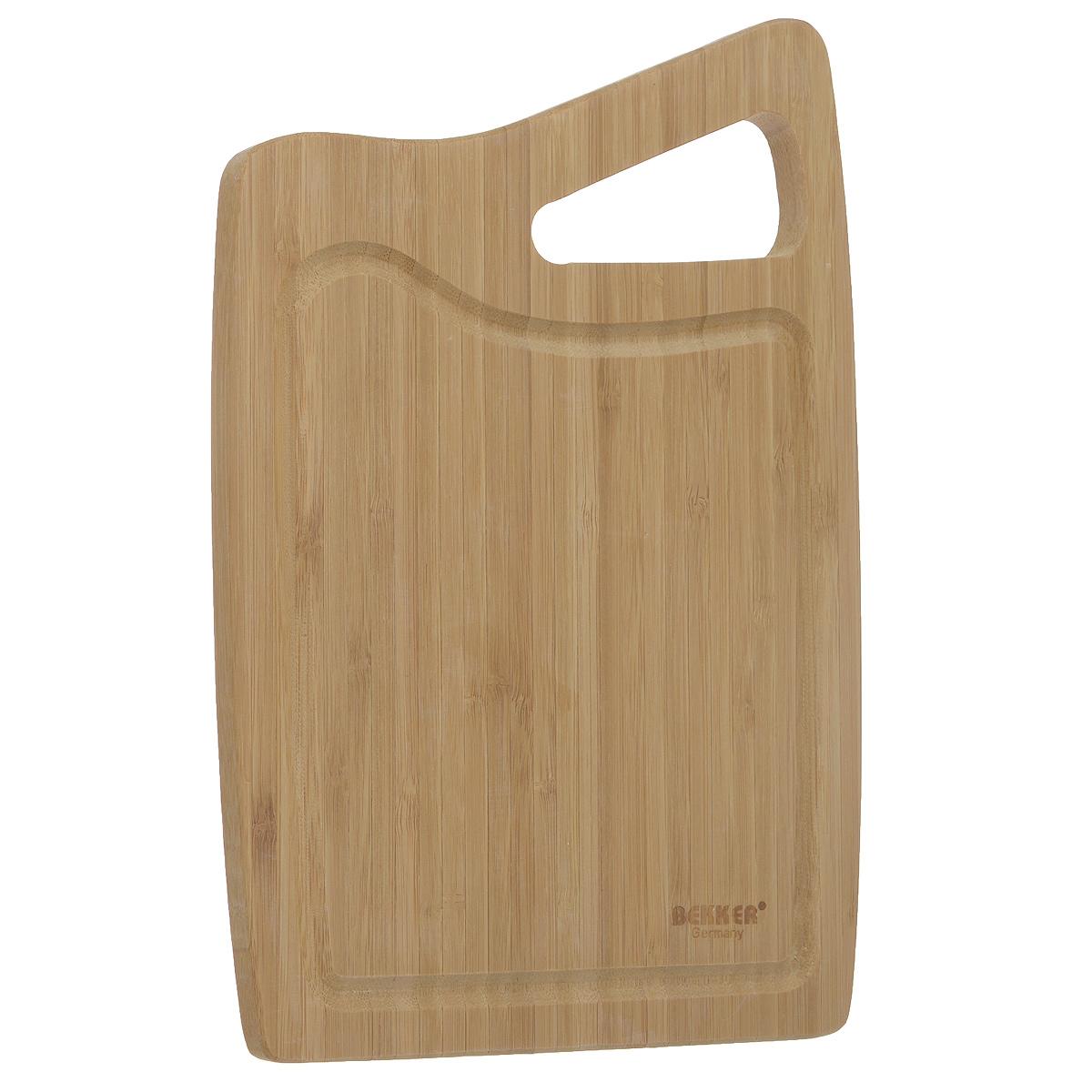 Доска разделочная Bekker, бамбуковая, 30 х 20 см BK-9718