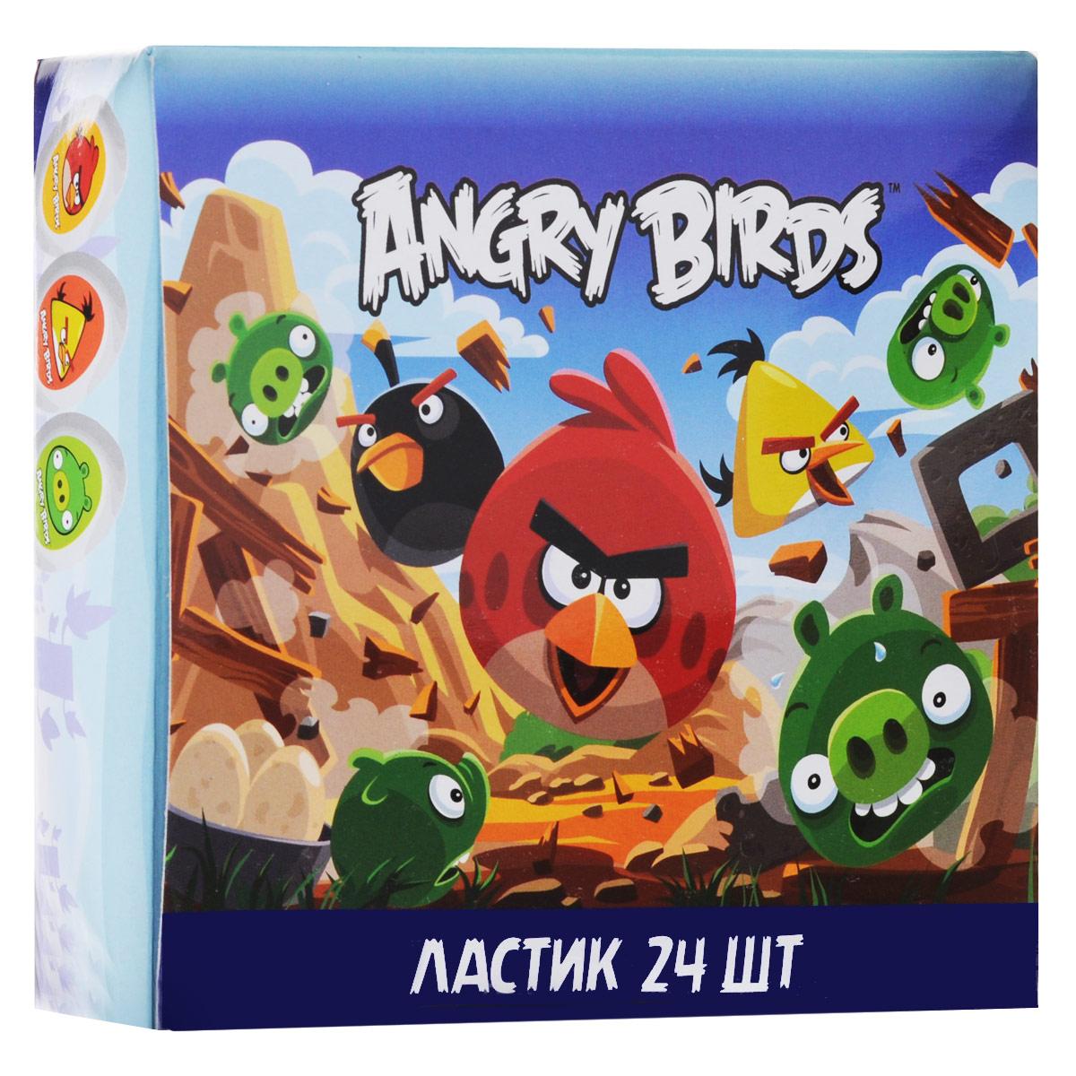 Набор ластиков Angry Birds, 24 шт84403ОЛастики из набора Angry Birds предназначены для стирания карандашей с бумаги различной плотности. Овальные ластики выполнены из синтетического каучука белого цвета. Каждый ластик оформлен изображением одного из персонажей популярной компьютерной игры Angry Birds. В наборе 24 ластика, упакованных в отдельные пакеты.