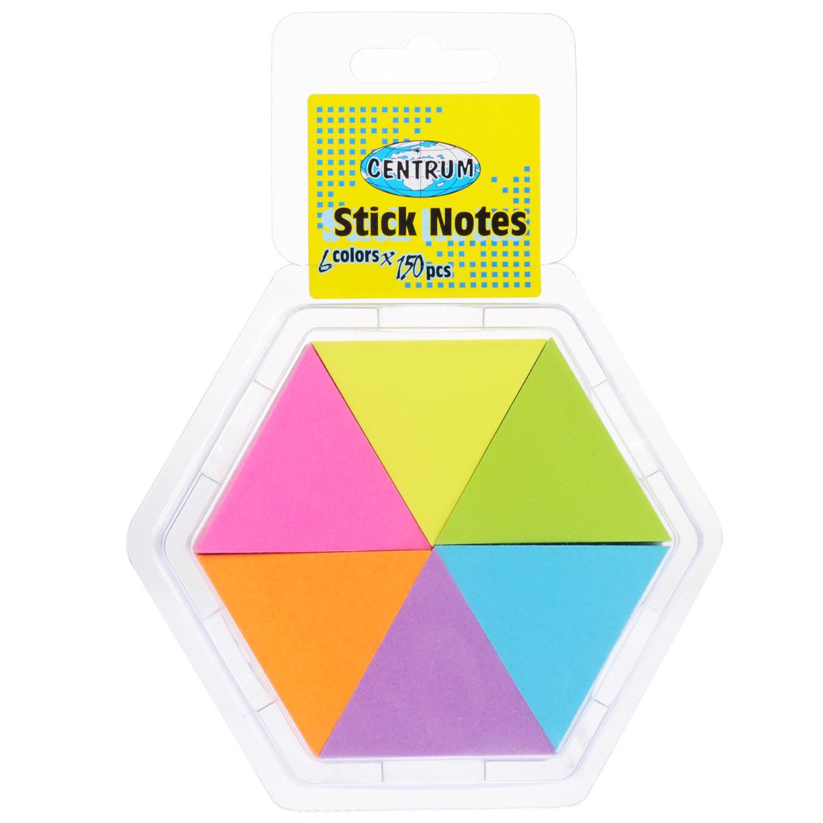 """Набор блоков для записей """"Centrum"""", с липким слоем, 4,3 см х 5 см, 6 шт 82883"""