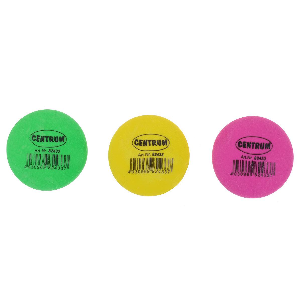 Набор ластиков Centrum Neon, 27 шт82433ОЛастики из набора Centrum Neon предназначены для стирания карандашей с бумаги различной плотности. Круглые ластики выполнены из синтетического каучука ярких неоновых цветов. В наборе 27 ластиков розового, желтого и зеленого цветов (по 7 ластиков каждого цвета), упакованных в отдельные пакеты.
