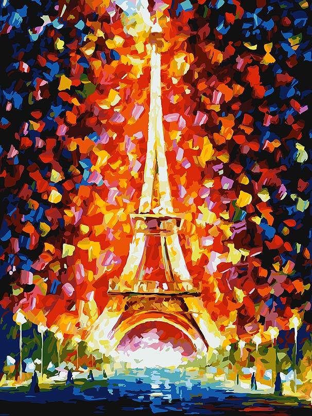 Живопись на холсте Париж - огни Эйфелевой башни, 30 х 40 см026-ASЖивопись на холсте Париж - огни Эйфелевой башни - это набор для раскрашивания по номерам акриловыми красками на холсте. В набор входят: - холст на подрамнике с нанесенным рисунком, - пробный лист с нанесенным рисунком, - набор акриловых красок, - 2 кисти, - настенное крепление для готовой картины. Каждая краска имеет свой номер, соответствующий номеру на картинке. Нужно только аккуратно нанести необходимую краску на отмеченный для нее участок. Таким образом, шаг за шагом у вас получится великолепная картина. С помощью серии наборов Живопись на холсте вы можете стать настоящим художником и создателем прекрасных картин. Вы получите истинное удовольствие от погружения в процесс творчества и созданные своими руками картины украсят интерьер вашего дома или станут прекрасным подарком. Техника раскрашивания на холсте по номерам дает возможность легко рисовать даже сложные сюжеты. Прекрасно развивает ...