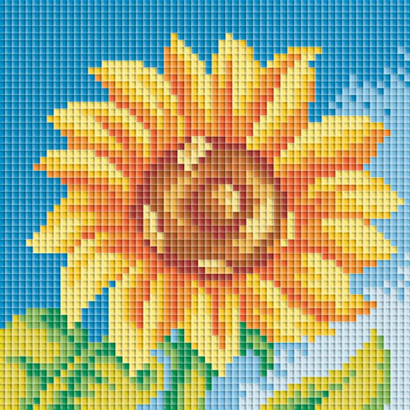 Набор для творчества Мозаика. Маленький подсолнух, 15 см х 15 см047-STНабор для создания мозаичной картины - это новый вид творчества, который поможет создать оригинальный элемент для украшения интерьера. В наборе имеется канва с нанесенной схемой, покрытая клеевым слоем. С помощью пинцета камушки размещаются на канву. Камушки выполнены из современного композитного материала, устойчивого к воздействию солнечных лучей. Камушек за камушком и канва будет закрываться блестящим и переливающимся рисунком. Попробуйте новую технику рукоделия - вышивка без иглы. Просто выложите мозаику по схеме на клеевую основу и получите шедевр! Вы получите наслаждение от творчества и удивительно красивую картину для вашего интерьера! После завершения работы необходимо выровнять мозаичные ряды металлической линейкой, проведя ребром линейки между рядами мозаики. Поверх мозаичного панно рекомендуем нанести слой акрилового глянцевого лака. Лак дополнительно закрепит мозаичные элементы и создаст защитную пленку вашей работе. Тип...