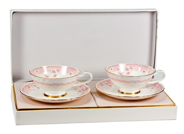 Н-р из 2-х чайных пар Розовый дессерт, шт