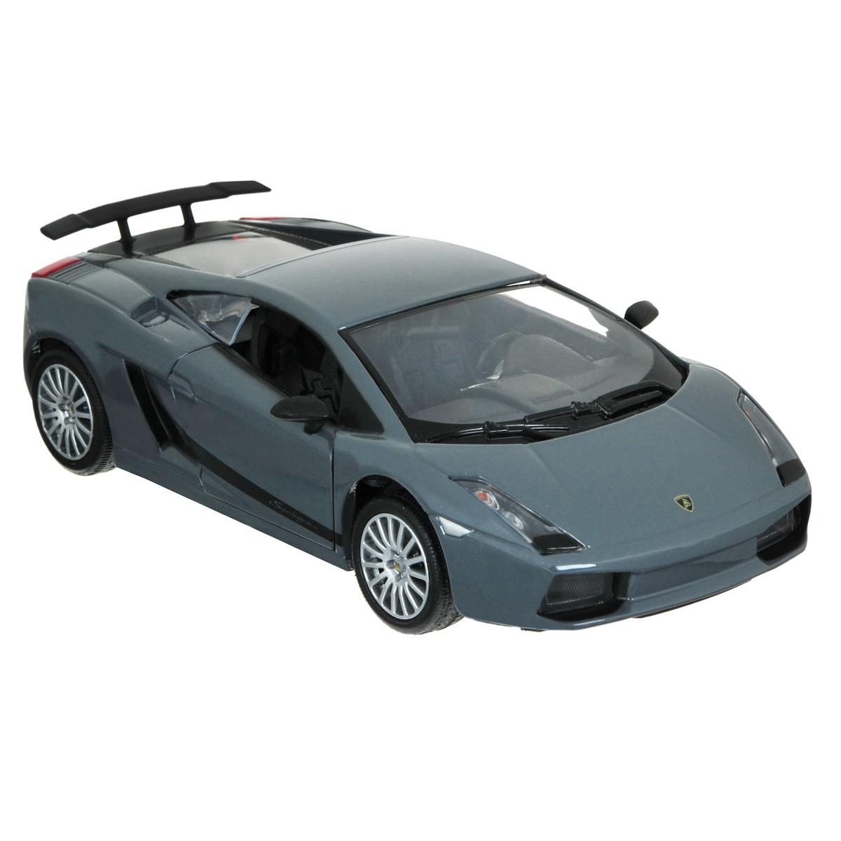 MotorMax Модель автомобиля Lamborghini Gallardo Superleggera цвет черныйblack_metallic/ast73346Коллекционная модель MotorMax Laмborghini Gallardo Superleggera станет хорошим подарком для любого ценителя автомобилей. Lamborghini Gallardo Superleggera - это 1,3 тонны сверхмощного, быстрого и фантастически дорого суперкара. В настоящее время выпуск этого автомобиля прекращен и доподлинно неизвестно даже количество выпущенных авто. Но вы можете стать его владельцем, добавив в свою коллекцию уникальную масштабную модель от MotorMax. Роскошная модель в точности повторяет внешний облик и даже некоторые особенности начинки реального авто. У машинки открываются двери и капот, а также поворачиваются колеса. Корпус автомобиля выполнен из литого металла, отделка салона и некоторые элементы пластиковые, а шины изготовлены из резины. Все по-настоящему!