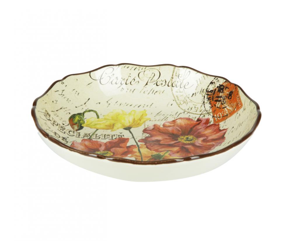Набор из 4-х тарелок суповых 23 см Парижские маки, набор43332/4Американскую керамику отличает практичность и высокое качество исполнения каждого изделия. Посуда расписана вручную и покрыта глазурью, выполнена из экологически чистых материалов, что обеспечивает сохранение отменного вкуса каждого блюда и его длительное хранение. Эта керамическая посуда химически инертна, не вступает в реакцию с пищей, не выделяет вредных веществ при перегреве.