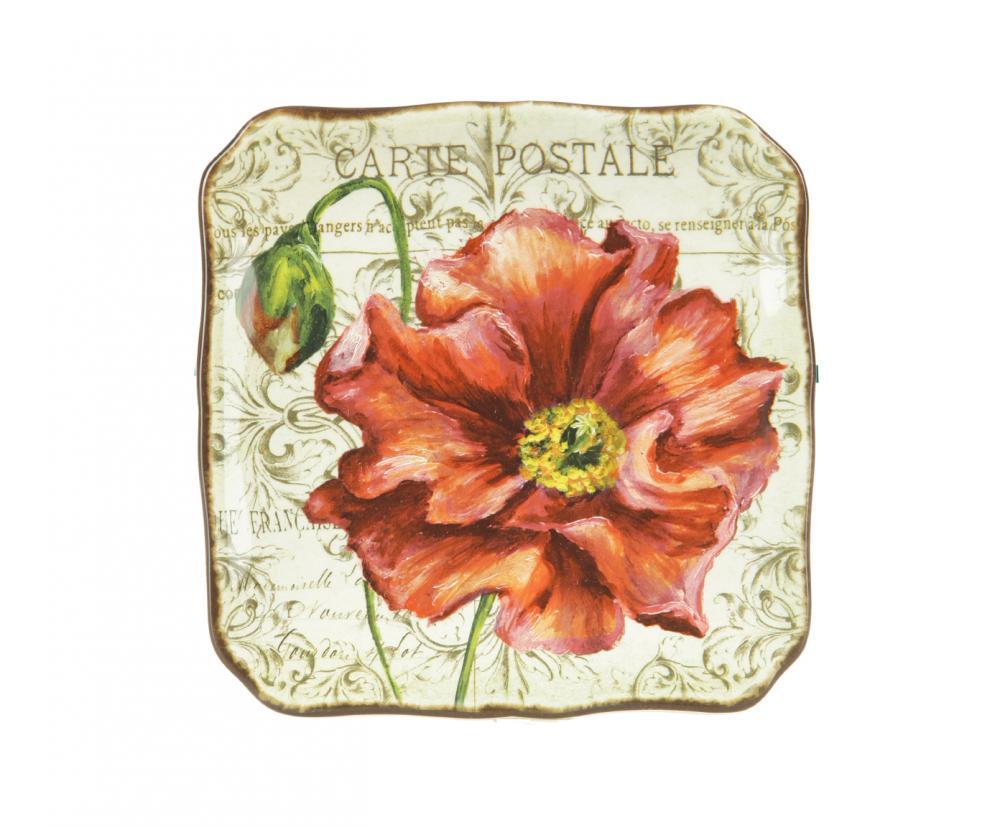 Набор из 4-х тарелок десертных 21,5 см Парижские маки, набор43331/4Американскую керамику отличает практичность и высокое качество исполнения каждого изделия. Посуда расписана вручную и покрыта глазурью, выполнена из экологически чистых материалов, что обеспечивает сохранение отменного вкуса каждого блюда и его длительное хранение. Эта керамическая посуда химически инертна, не вступает в реакцию с пищей, не выделяет вредных веществ при перегреве.