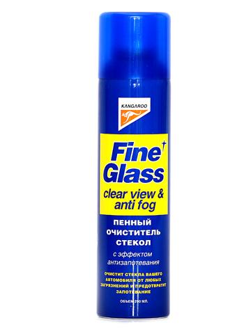 Пенный стеклоочиститель Kangaroo Fine Glass, с эффектом антизапотевания, 290 мл320102Пенный стеклоочиститель Kangaroo Fine Glass быстро удаляет любые загрязнения со стекол и фар автомобиля, не оставляя разводов. Предотвращает запотевание стекол. Благодаря пенной структуре легко наносится на стекло и не стекает в технические отверстия автомобиля. Не замерзает зимой.