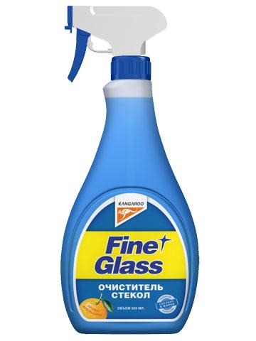Очиститель стекол Kangaroo Fine Glass, с ароматом апельсина, с салфеткой, 500 мл320119Очиститель стекол Kangaroo Fine Glass предназначен для эффективной очистки поверхности стекла от различных загрязнений. Полностью удаляет жировую пленку. Содержит апельсиновый ароматизатор. В комплекте прилагается специальная салфетка.