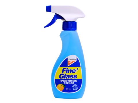 Очиститель стекол Kangaroo Fine Glass, с ароматом апельсина, 280 мл320140Очиститель стекол Kangaroo Fine Glass предназначен для эффективной очистки поверхности стекла от различных загрязнений. Полностью удаляет жировую пленку. Содержит апельсиновый ароматизатор.