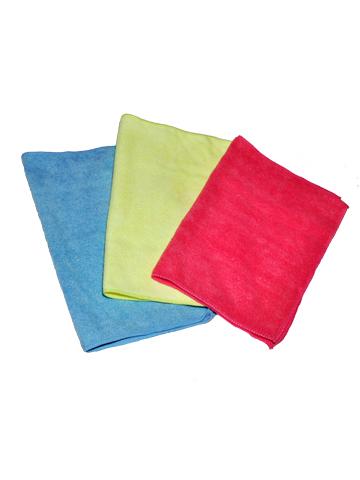 Набор салфеток для ухода за автомобилем Clingo, цвет: голубой, желтый, розовый, 40 х 40 см, 3 штCLS-05