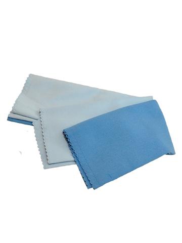 Набор салфеток для полировки Clingo, цвет: голубой, 40 см х 40 см, 2 штCLS-06