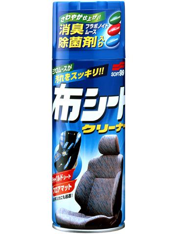 Очиститель обивки сидений Soft99 Fabric Seat Cleaner, пенный, 420 мл2051Пенный очиститель Soft99 Fabric Seat Cleaner предназначен для очистки тканевой обивки сидений. Подходит также для очистки сидений из искусственной кожи и деталей из пластика. Уничтожает неприятный запах и убивает микробы. Мельчайшие пузырьки и активные вещества быстро удаляют частицы грязи и возвращают обивке первоначальный вид, оставляя чувство настоящей свежести.