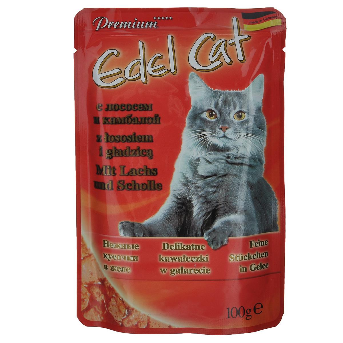 Консервы для кошек Edel Cat, с лососем и камбалой в желе, 100 г15146Консервы для кошек Edel Cat - полнорационный корм для взрослых кошек. Edel Cat с лососем и камбалой понравится вашей пушистой привереде. В изготовлении продукта была задействована только свежая отборная рыба. В корм не входят усилители вкуса и консерванты, поэтому ваши питомцы будут наслаждаться только натуральным вкусом рыбы. Лакомство содержит всевозможные полезные элементы. Например, в составе обнаруживается клетчатка. А это говорит о том, что продукт будет легко усваиваться. К тому же будет оказываться благотворное воздействие на желудок и пищеварительную систему. Edel Cat богат также жирными кислотами (омега-6, омега-3). Для организма кошек это очень важные элементы. Они улучшают состояние кожного покрова и шерсти. Кожа становится эластичной и увлажненной. У шерсти появляется здоровый блеск. Если вы погладите кошку, то заметите также, что шерсть стала более мягкой и гладкой. К тому же нельзя не отметить и то, что выпадение волос...