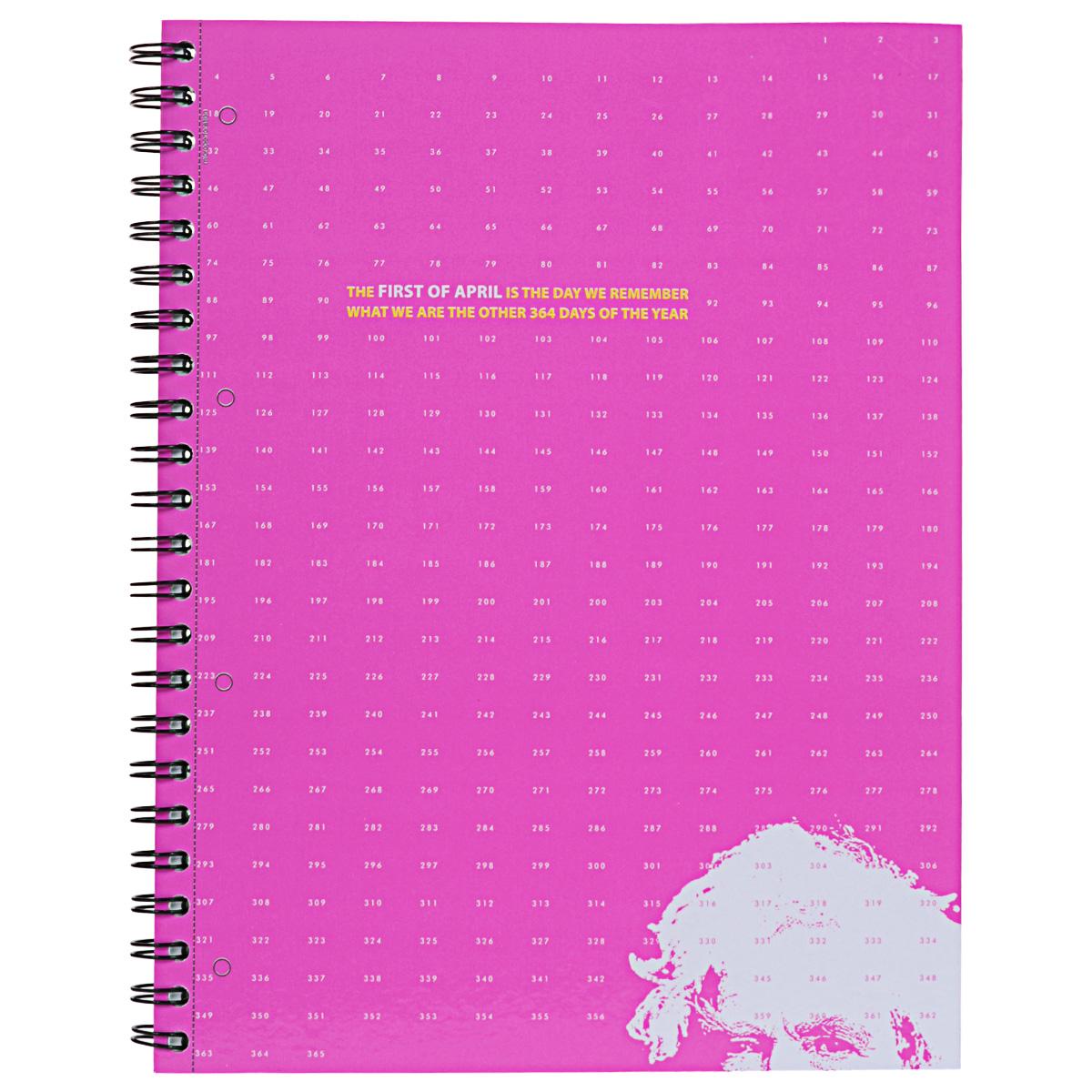 Тетрадь на спирали, 80л Муранское стекло, УФ-лак, розовая34 розоваятетрадь на спирали,80л Муранское стекло, УФ-лак, розовая