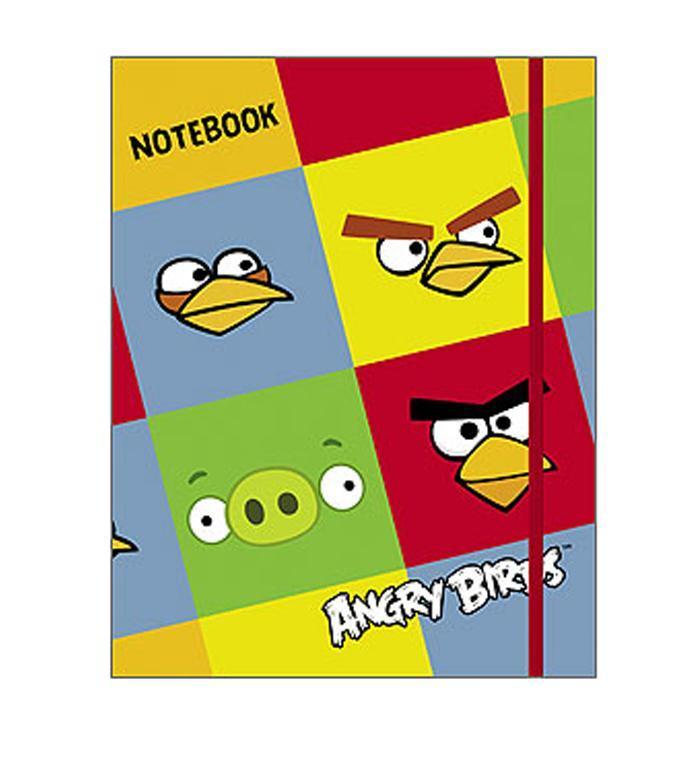 Бизнес-блокнот 80л А5ф 5-цв. блок клетка тв.переплет на резинке-ANGRY BIRDS-80ББ5Bр1_10378Бизнес-блокнот в твердом переплёте с резинкой. Листаж - 80 листов А5 формата. 5-цветный блок. Клетка. Тип разметки: В клетку; тип бумаги: Шелковисто-матовая; формат: А5; обложка: Книжная; пол: унисекс; упаковка: Коробка картонная