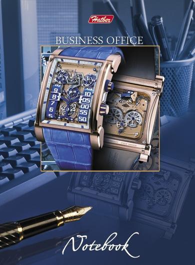 Бизнес-блокнот 80л А6ф клетка тв.переплет-Clock-work-