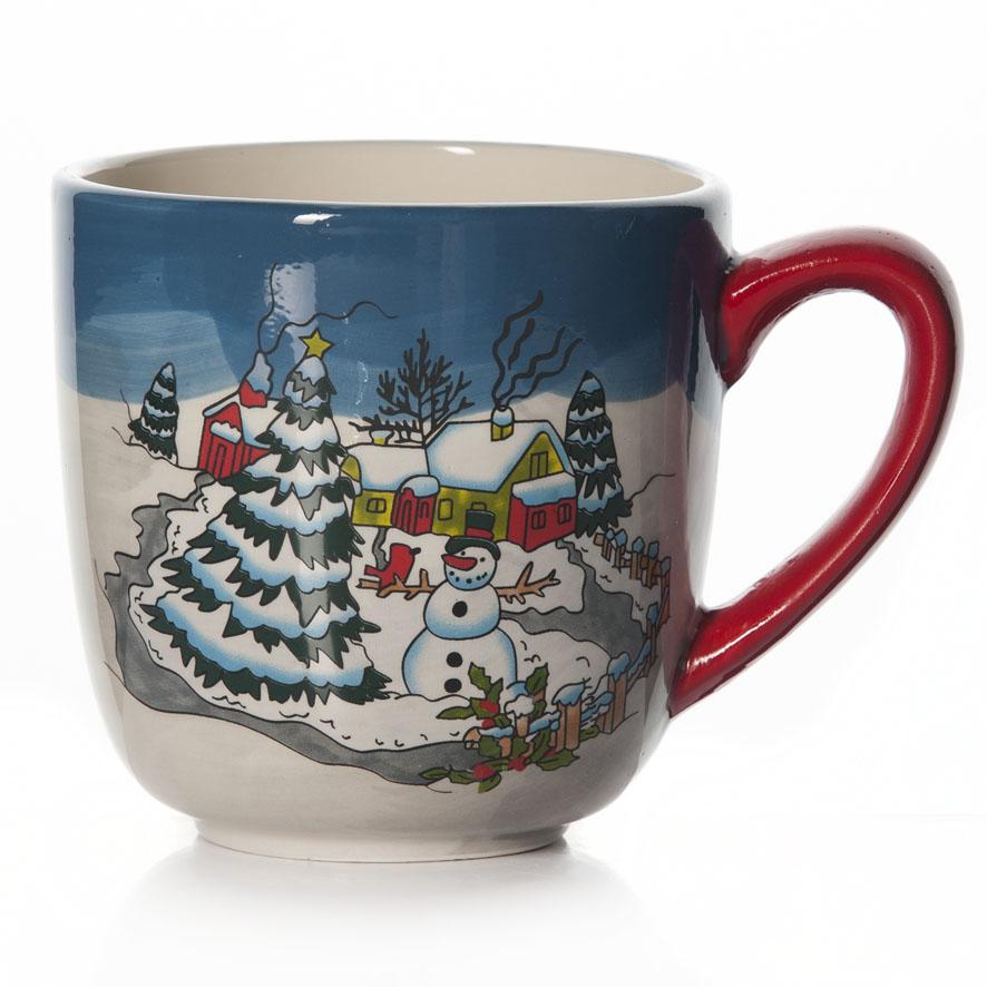 Кружка House & Holder Новогодняя, цвет: голубой, белый, 400 млDP-B10-321Кружка House & Holder Новогодняя выполнена из высококачественной керамики и оформлена красочными изображениями снеговика и елочек. Такая кружка сделает чаепитие еще приятнее и позволит почувствовать волшебство новогодних праздников. Может послужить приятным и практичным сувениром.