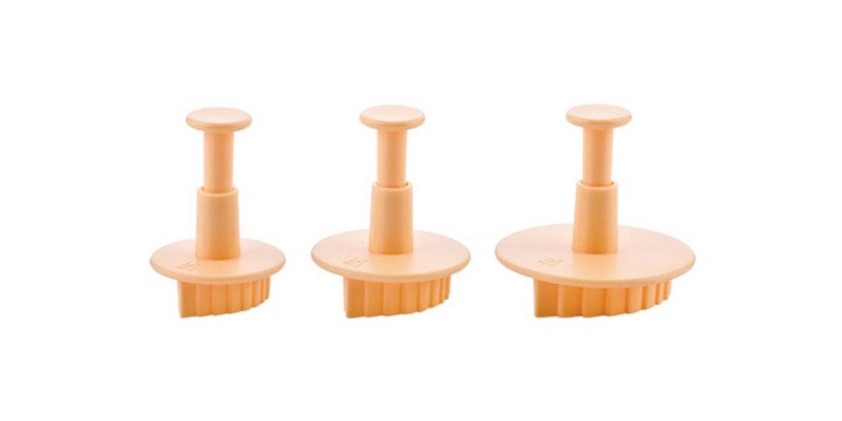 Формочки с поршнем Tescoma Delicia Deco, цвет: желтый, 3 шт. 632940632940Формочки с поршнем Tescoma Delicia Deco, изготовленные из высококачественного пластика, отлично подходят для легкого вырезания украшений из марципана, мастики или помадки. В наборе - 3 формочки в виде листьев разного размера. Можно мыть в посудомоечной машине.
