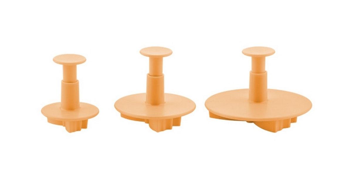 Формочки с поршнем Tescoma Delicia Deco, цвет: желтый, 3 шт. 632950632950Формочки с поршнем Tescoma Delicia Deco, изготовленные из высококачественного пластика, отлично подходят для легкого вырезания украшений из марципана, мастики или помадки. В наборе - 3 формочки в виде бабочек разного размера. Можно мыть в посудомоечной машине.