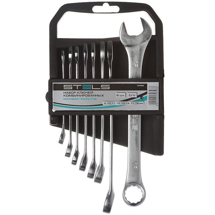 Набор комбинированных ключей Stels, 8 шт