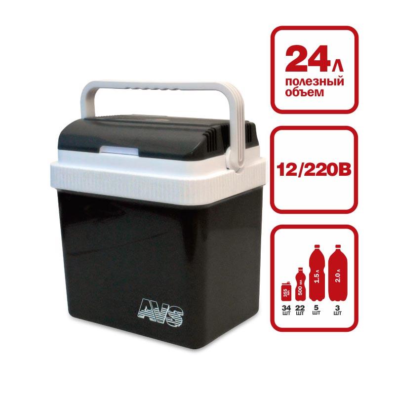 Холодильник автомобильный AVS CC-24NB, 40 см х 30 см х 43 см43438Компактные размеры позволяют разместить холодильник AVS CC-24NB в любой части вашего автомобиля. Отлично охлаждает напитки и сохраняет скоропортящиеся продукты в любую жару, в самых суровых условиях путешествия. На верхней крышке расположены подстаканники. Питание: 220В/12В. Мощность в режиме охлаждения: 48 Вт. Мощность в режиме нагрева: 36 Вт. Емкость: 24 л. Принцип работы по эффекту Пельтье. Максимальное охлаждение: 15-18°С от температуры окружающей среды. Минимальная температура охлаждения: +5°С (при температуре окружающей среды не выше +23°С и непрерывной работе не менее 3 часов). Максимальный нагрев: +65°С. Вес: 4,2 кг.